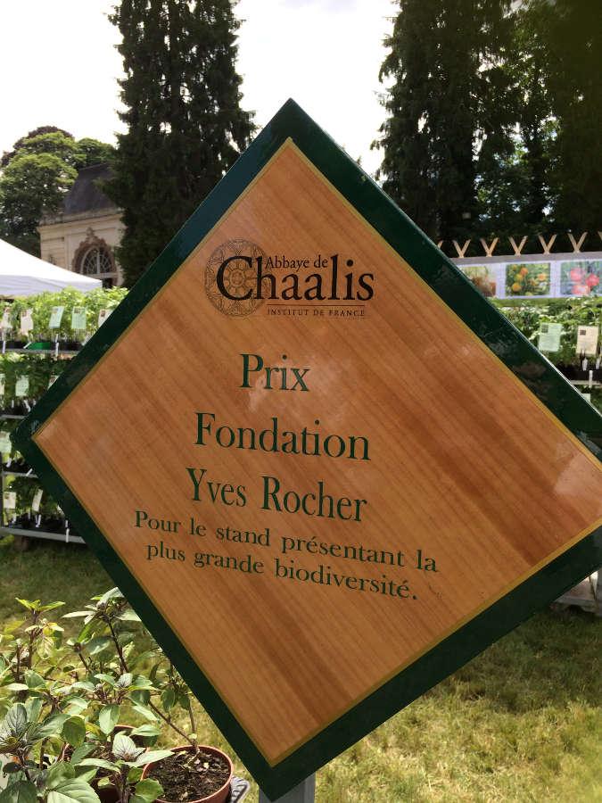 Chaalis, prix fondation Yves Rocher